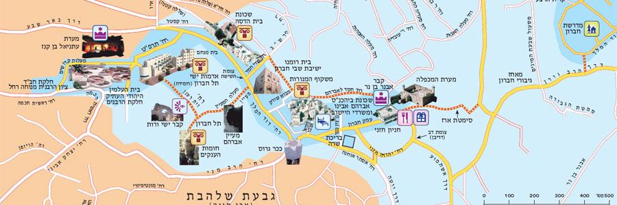 מפוארת מפת אזור הר חברון | כל היישובים במועצה אזורית הר חברון BU-38